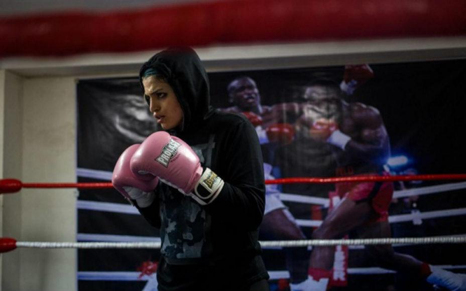 صدف خادم نخستین بوکسور زن ایرانی