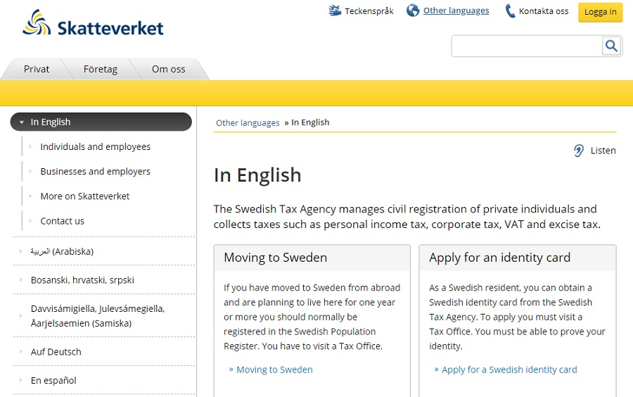 ویزا کار سوئد