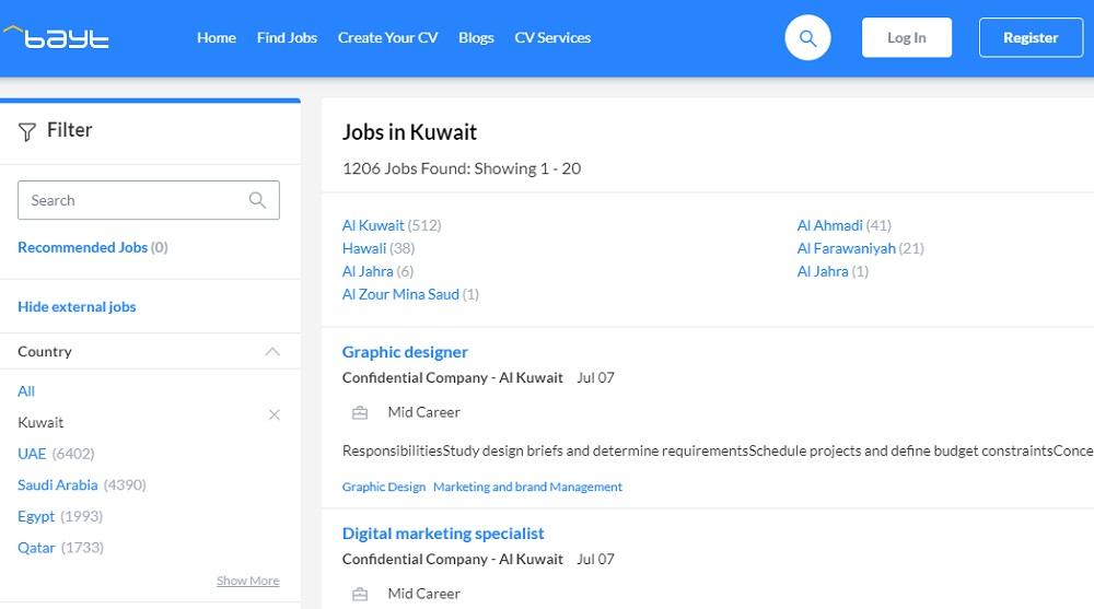 کار در کویت