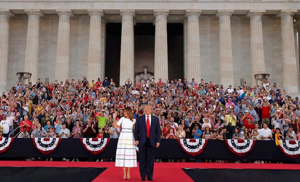 سخنرانی دونالد ترامپ در چهارم جولای
