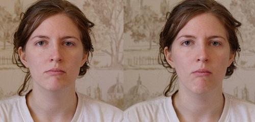 پر کردن صورت و برجسته سازی گونه ه