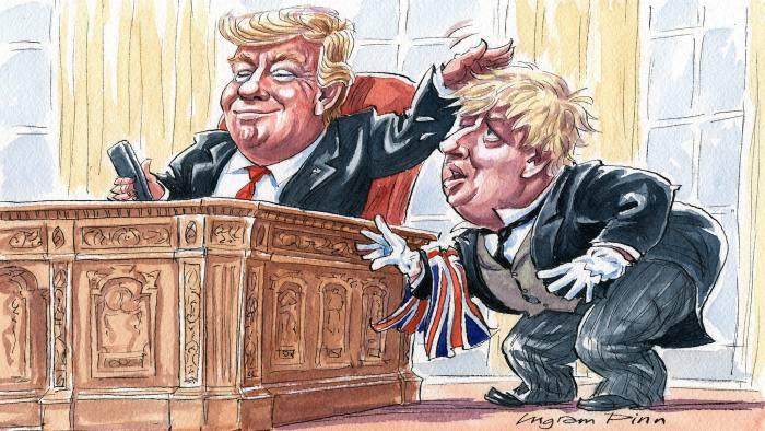 بوریس جانسون، نخست وزیر بریتانیا و دونالد ترامپ