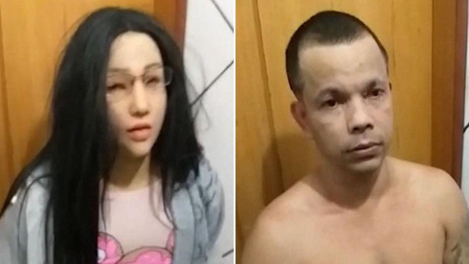 خودکشی قاچاقچی مواد مخدر پس از ناکامی در فرار از زندان با ماسک و لباسهای دخترش [تماشا کنید]