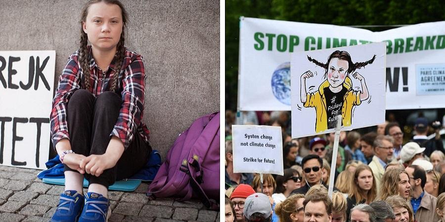 گرتا تونبرگ ۱۶ ساله چطور به چهره جنبش تغییرات آب و هوایی تبدیل شد؟