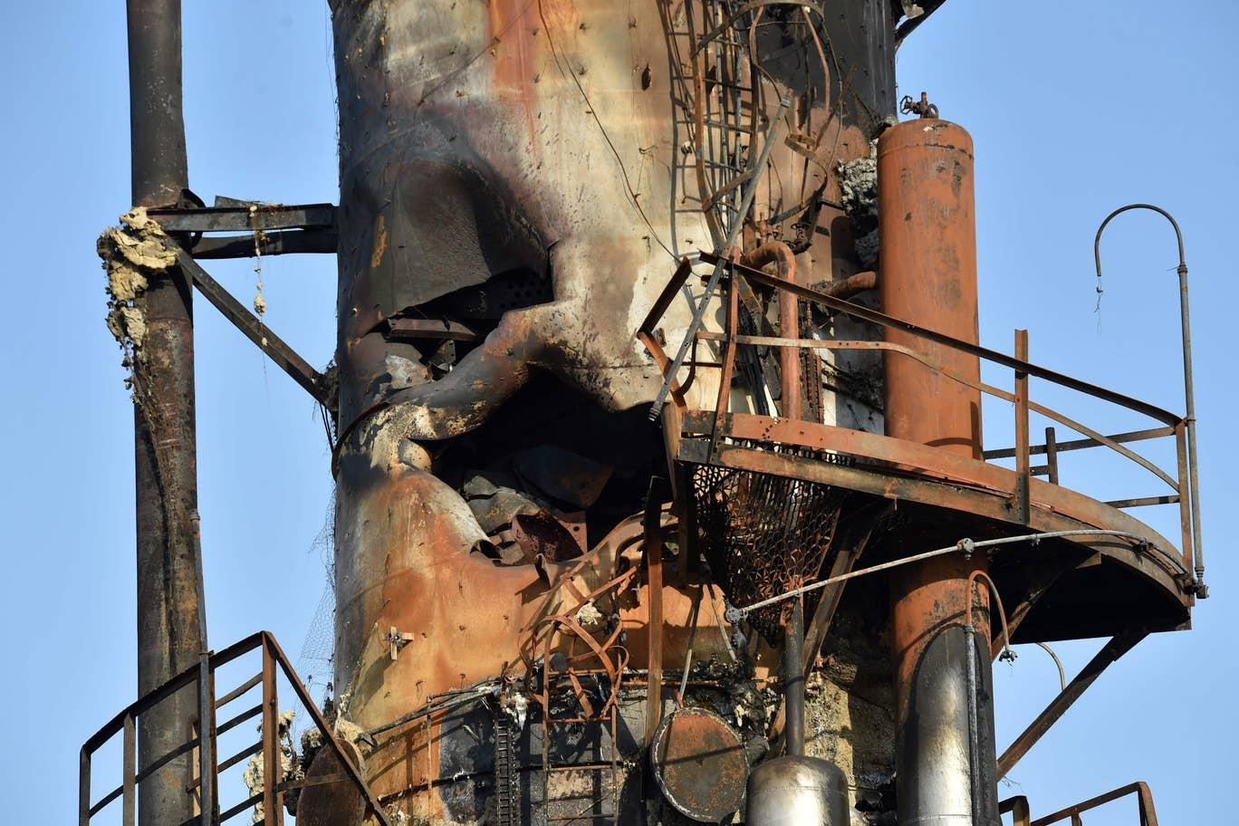 اولین تصاویر و ویدیوها از خسارات حملات پهپادی به مجتمع های نفتی عربستان سعودی