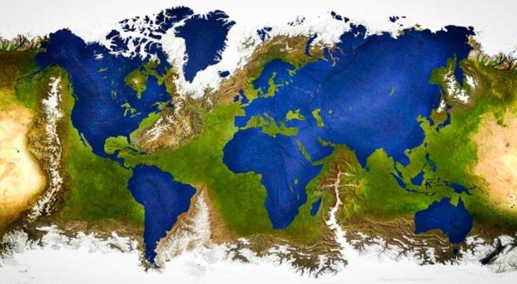عوض شدن جای خشکی ها و آب های زمین