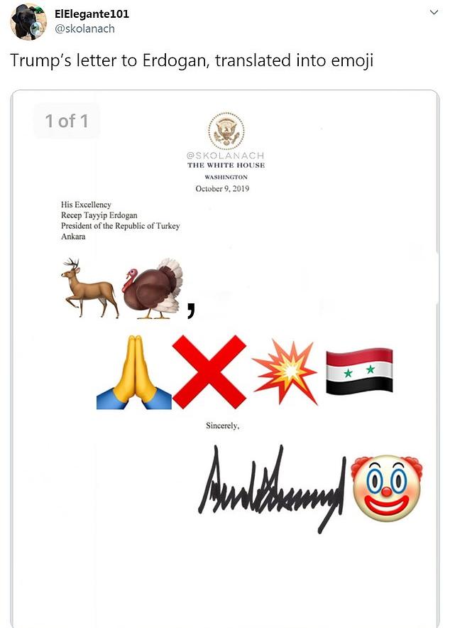 نامه دونالد ترامپ به رجب طیب اردوغان، رییس جمهور ترکیه برای پایان دادن به حمله به شمال سوریه
