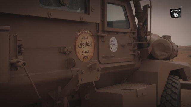داعش در دوران اوج قدرت خود دست به ایجاد تغییراتی در خودروهای زرهی و تانک ها زده بود تا آن ها را بیش از پیش برای عملیات های خود تقویت سازد.