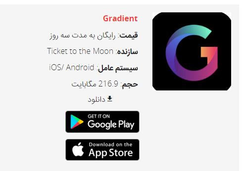 Gradient یک اپلیکیشن عکس-پایه است که توسط سلبریتی ها و کاربران معمولی به اشتراک گذاشته شده هر چند امنیت آن به چالش کشیده شده است.