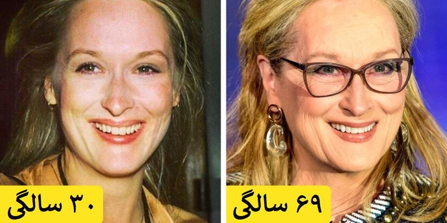 زنان مشهور و پا به سن گذاشته هالیوود که تن به هیچ عمل زیبایی نداده اند