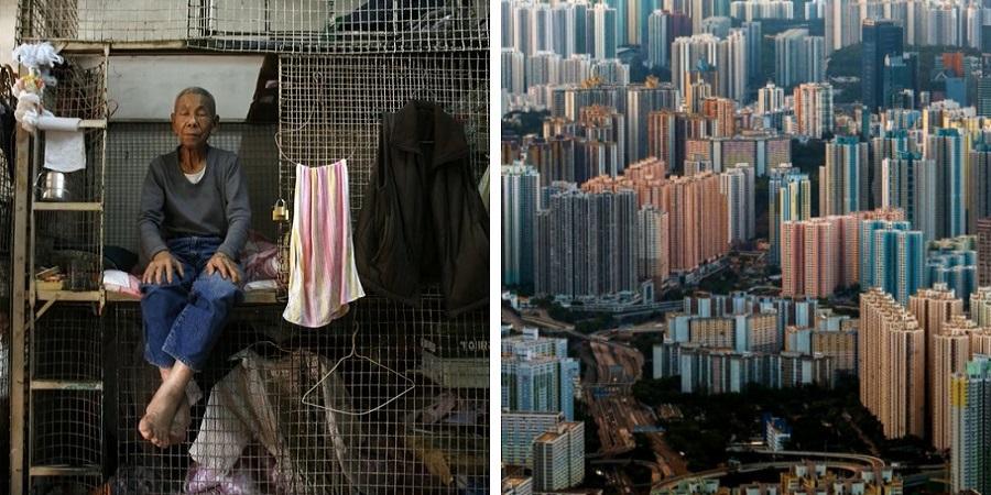 گشتی در خانه های قفسی هنگ کنگ ، آسمان خراش هایی با زندان های مسکونی