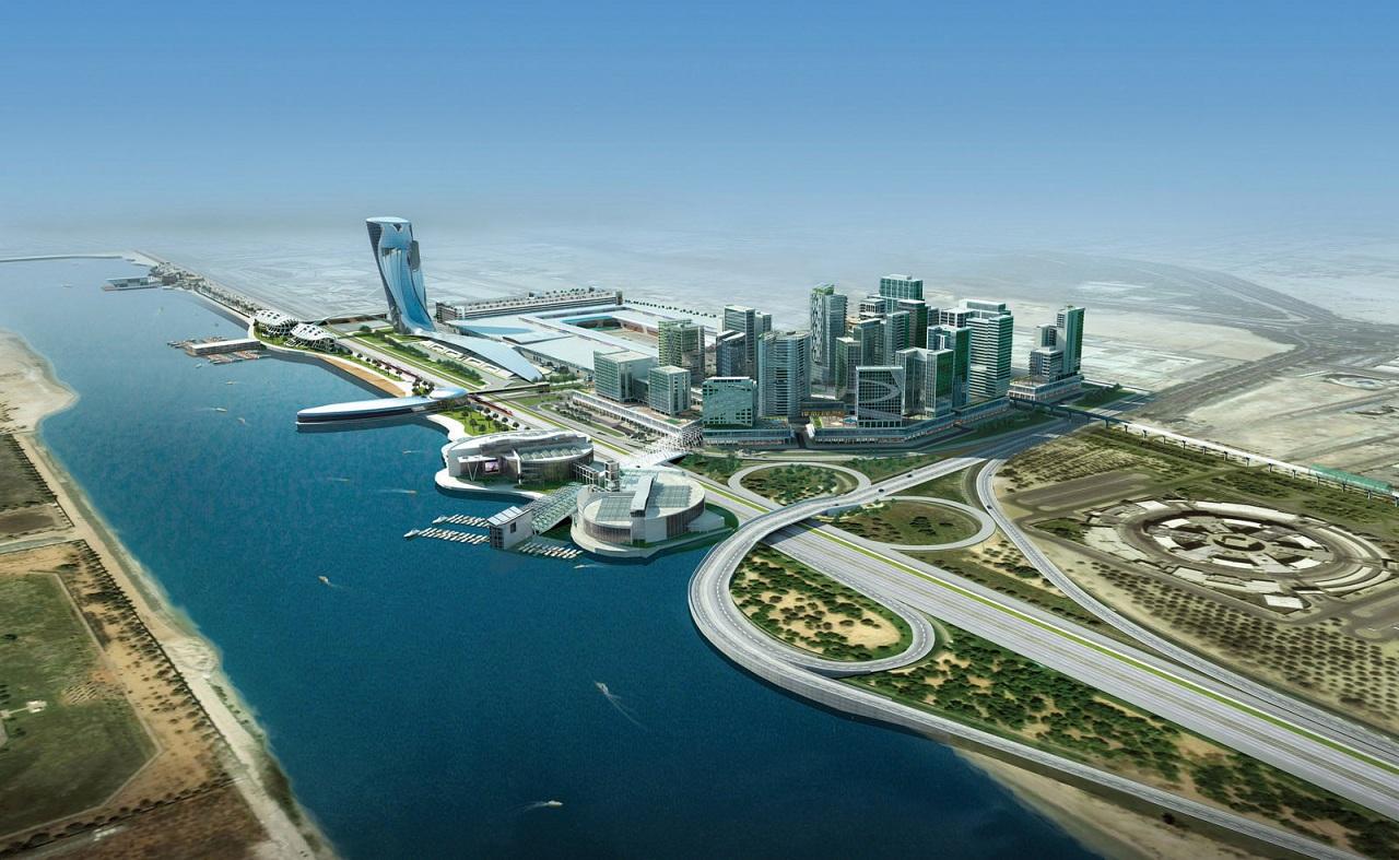 محیط زیست طبیعی ابوظبی الهام بخش طراحی برج «کپیتال گیت» (Capital Gate) بوده است به ویژه تپه های شنی باد زده و امواج خروشان خلیج.