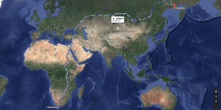 طولانیترین مسیر پیاده روی کره زمین؛ از آفریقای جنوبی تا روسیه به طول ۲۲.۵۰۰ کیلومتر