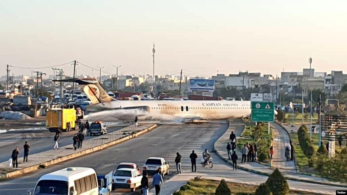 خروج هواپیمای مسافربری تهران - ماهشهر2