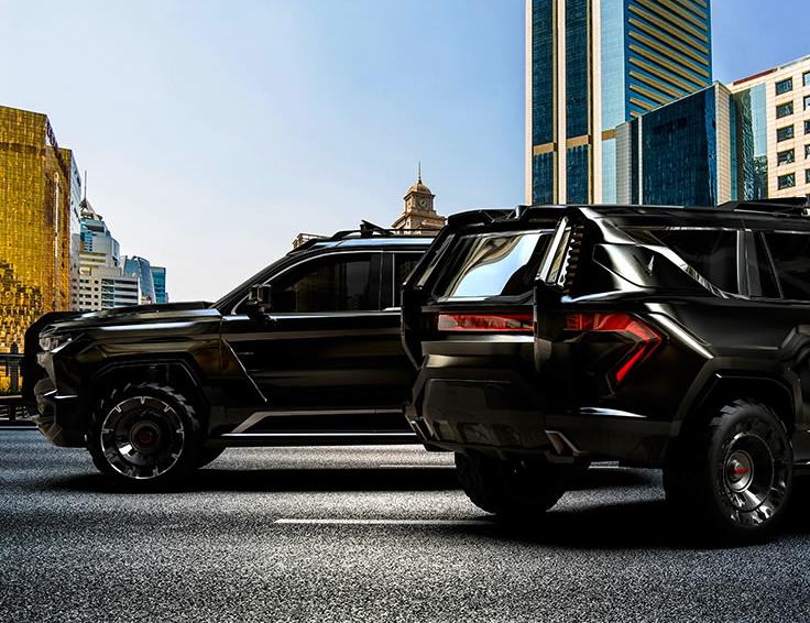 «Beast Patrol»؛ پیشرفتهترین خودرو پلیس جهان از کمپانی اماراتی-لبنانی W Motors