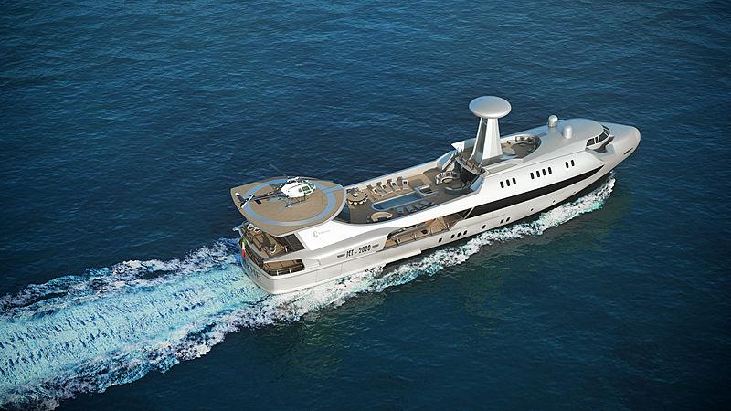 قایق تفریحی Codecasa Jet 2020 که توسط فولویو کودکاسا طراحی شده شبیه یک هواپیماست و بسیاری از ویژگی های سبکی یک هواپیما را به عاریت گرفته است.