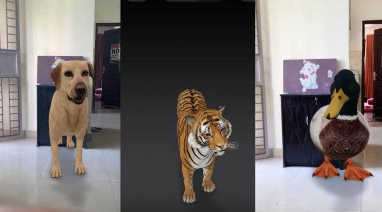 حیوانات سه بعدی گوگل