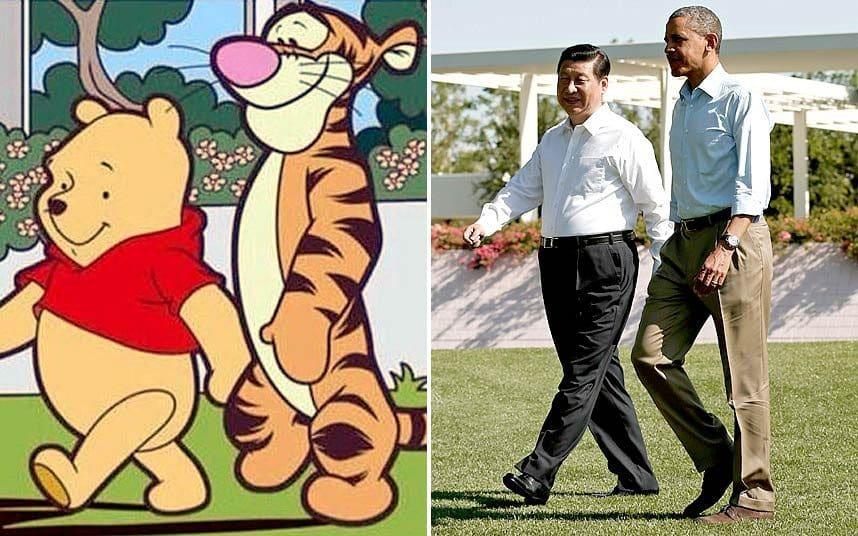 مهدی یراحی تصویری از وینی خرسه یا وینی دِ پو را در واکنش به سخنان سفیر چین در ایران در بخش کامنت ها قرار داد