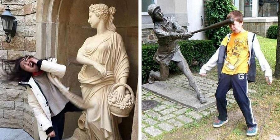 واکنش طنزآمیز مخالفان نابودی مجسمه چهره های نژادپرست: حالا برعکس!