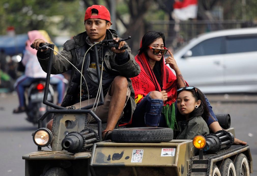 فستیوال وسپا در اندونزی؛ گردهمایی سالانه دوستداران موتورسیلکت ایتالیایی