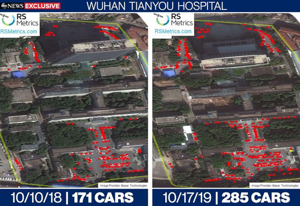 پارکینگ بیمارستان های ووهان
