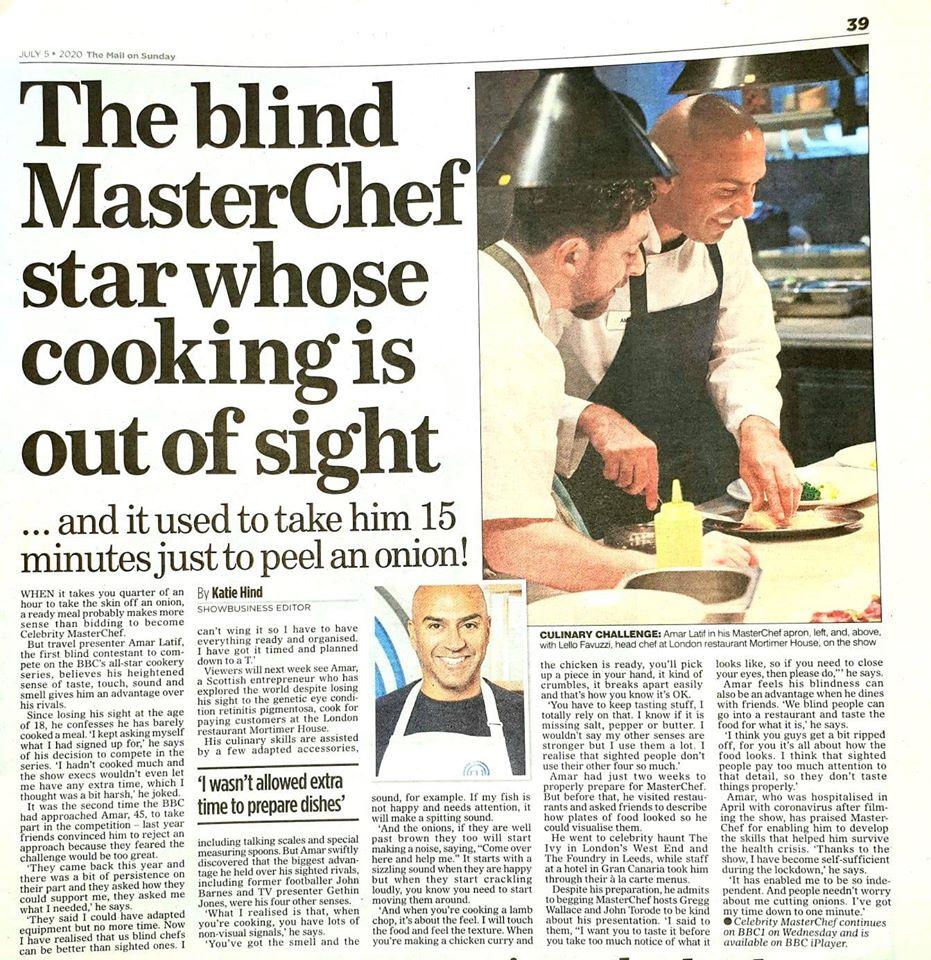 آشپزی بدون بینایی