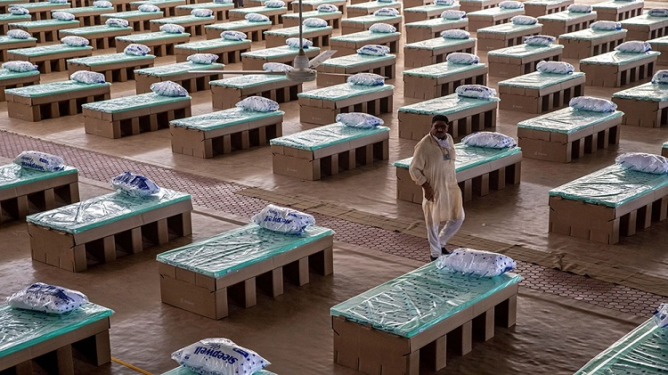 بزرگترین مرکز مراقبتی کرونا در هند