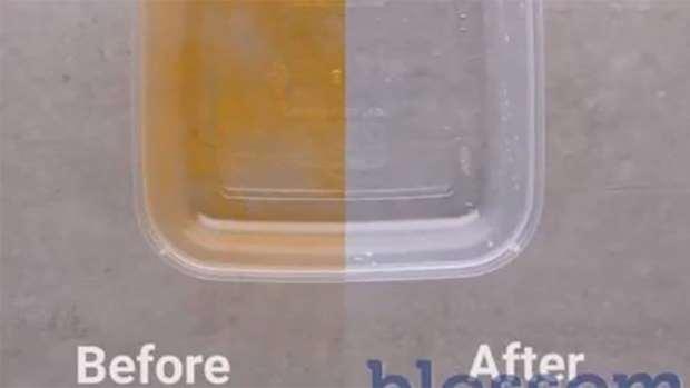 از بین بردن چربی ظروف پلاستیکی