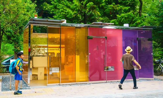 دستشویی عمومی شفاف در توکیو