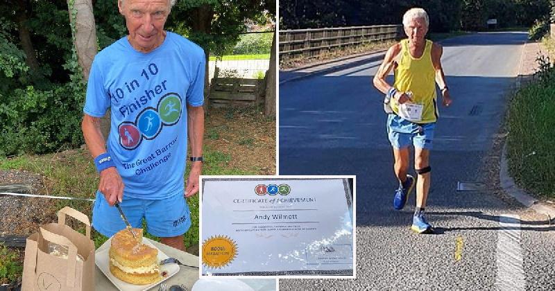 دور دنیا با دویدن؛ مرد ۷۶ ساله بریتانیایی هشتصدمین ماراتن خود را به پایان رساند