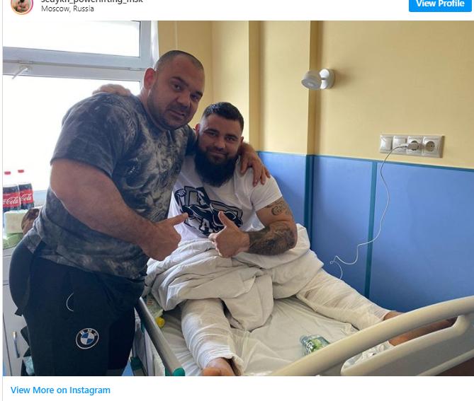 خرد شدن زانوهای قهرمان روسی پاورلیفتینگ