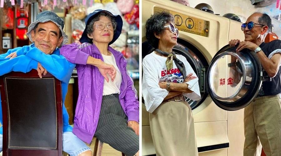 استایلهای تماشایی زوج سالمند خوشذوق با لباسهای بیصاحب خشکشوییشان