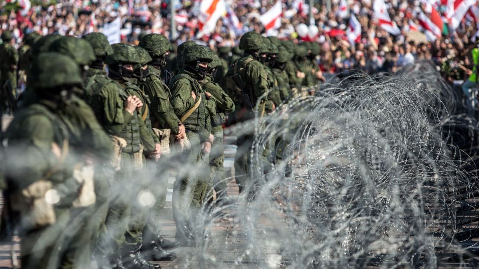 تظاهرات در بلاروس با شعار تولدت مبارک خائن برای الکساندر لوکاشنکو