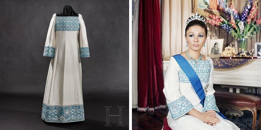 حراج لباس سوزن دوزی فرح پهلوی با قیمت پایه ۸۸۰۰ دلار