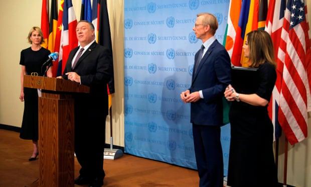 ایالات متحده اعلام کرده بود تحریم های سازمان ملل که پیش از قرارداد برجام علیه ایران اجرا شده بود روزهای شنبه و یکشنبه بازخواهند گشت
