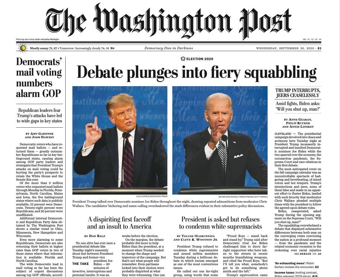 مناظره انتخاباتی دونالد ترامپ و جو بایدن