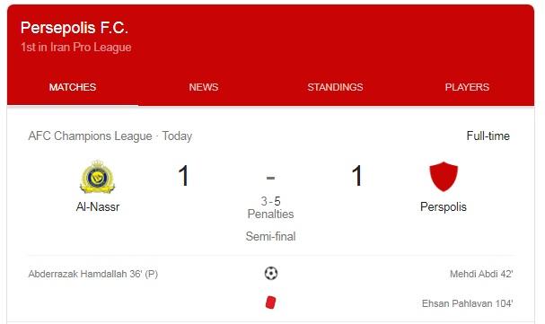 زمان مسابقه فینال لیگ قهرمانان آسیا