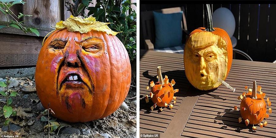 هالووین با چاشنی ترامپ؛ ترند تزئین کدو تنبل هالووین به شکل رئیس جمهور آمریکا