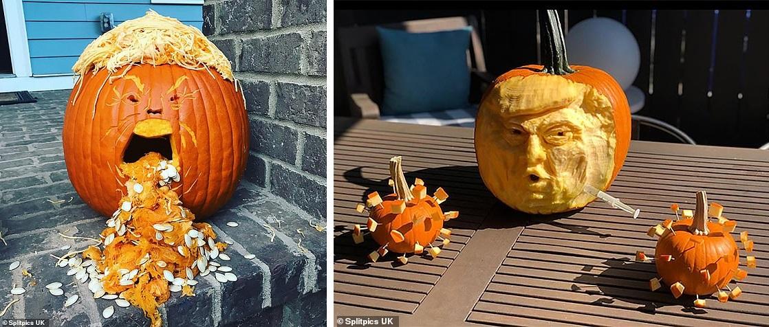 کدو تنبل هالووین دونالد ترامپ