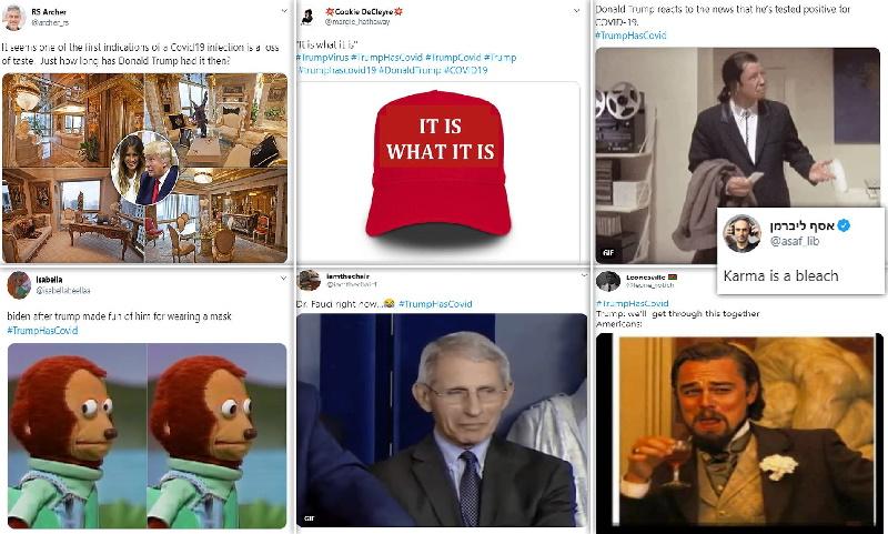 واکنش سلبریتی های آمریکایی در توییتر به خبر ابتلای دونالد ترامپ و ملانیا به ویروس کرونا