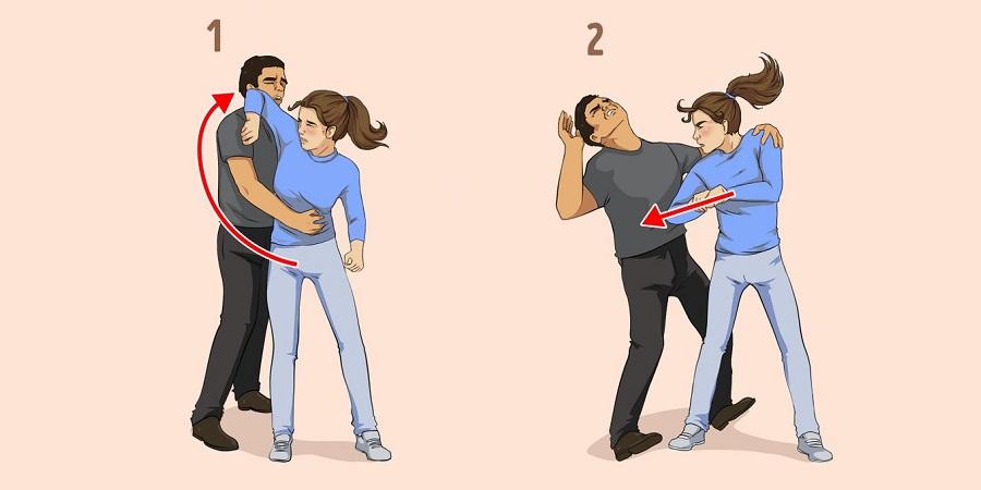 ۷ تکنیک دفاع شخصی برای خانم ها