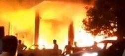 تصاویر انفجار در پمپ بنزین خیابان پیروزی تهران؛ رد شایعه بمبگذاری