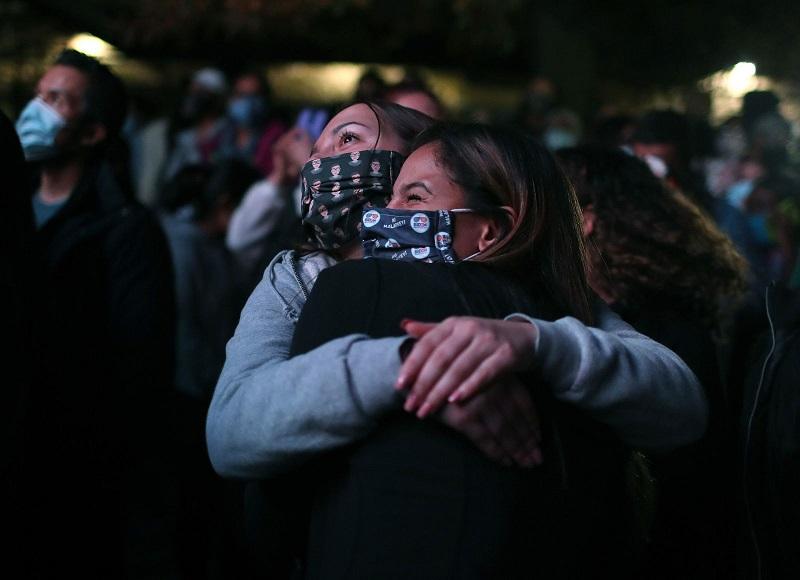 شادی مردم آمریکا پیروزی جو بایدن