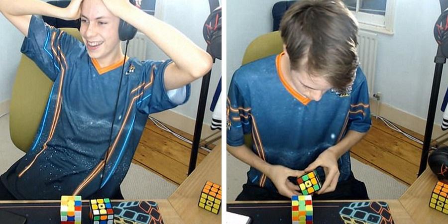 کسب جایزه بزرگ مسابقات جهانی روبیک توسط جوان انگلیسی با رکورد حل معکوس در عرض ۱۷ ثانیه