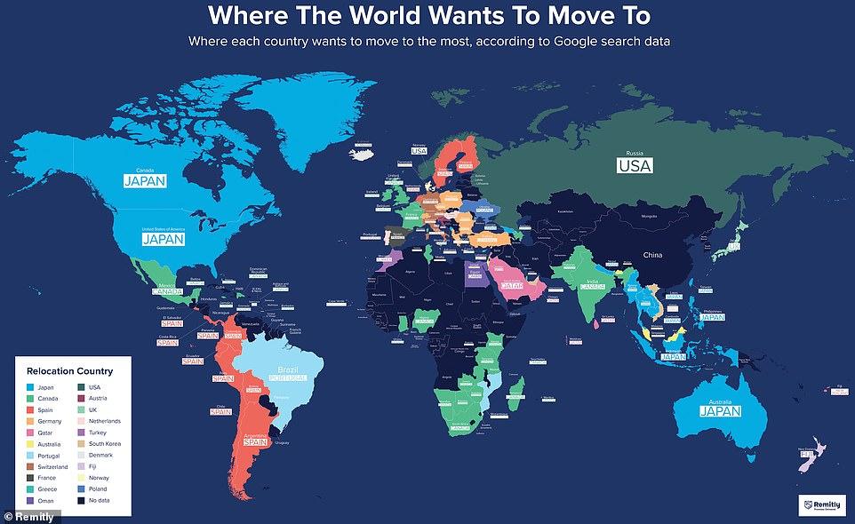 کشورهای محبوب برای مهاجرت