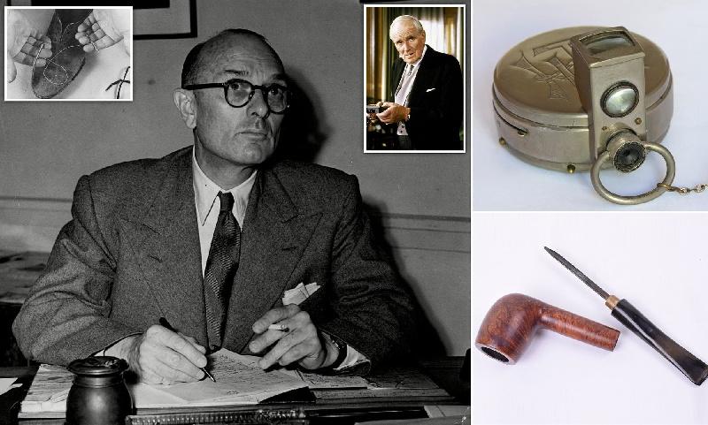 حراج کلکسیونی از گجت های جاسوسان بریتانیایی در دوران جنگ جهانی دوم در لندن