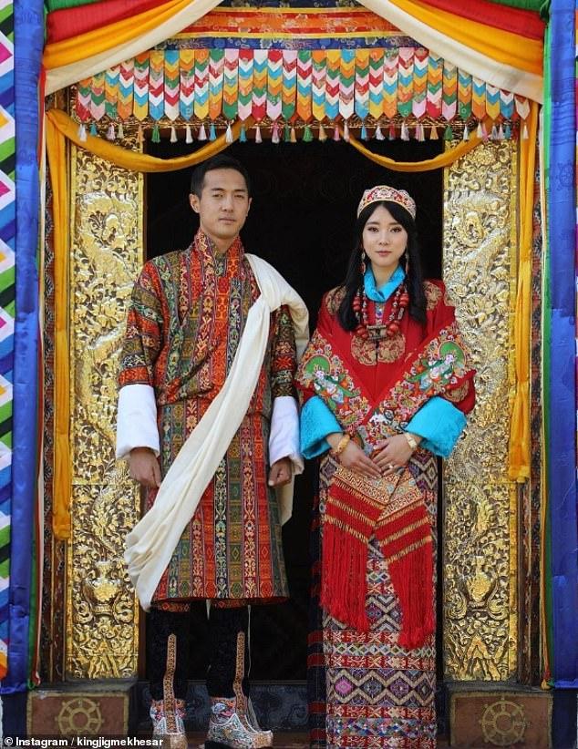 ازدواج خواهر پادشاه با برادر ملکه برای حفظ حلقه خاندان سلطنتی بوتان + تصاویر
