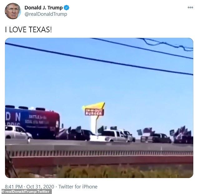 دیروز ویدیوی کوتاهی منتشر شد که در آن طرفداران دونالد ترامپ در شهر تگزاس به تعقیب اتوبوس کمپین انتخاباتی جو بایدن پرداخته و این اتوبوس را از شهر بیرون کردند