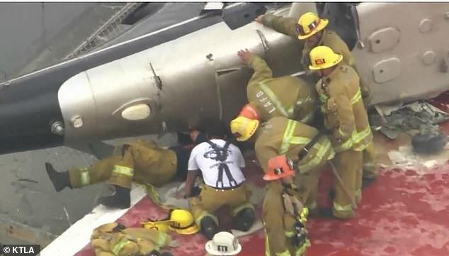 هلیکوپتری که روز جمعه در حال انتقال قلب اهدا شده به بیمارستانی در شرق لش آنجلس بود، هنگام فرود روی پشت بام بیمارستان دچار سانحه شد.