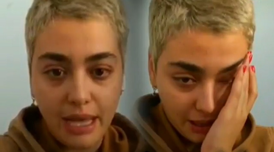 اشک های ریحانه پارسا پس از کشف حجاب: «می خواهند دستگیرم کنند»